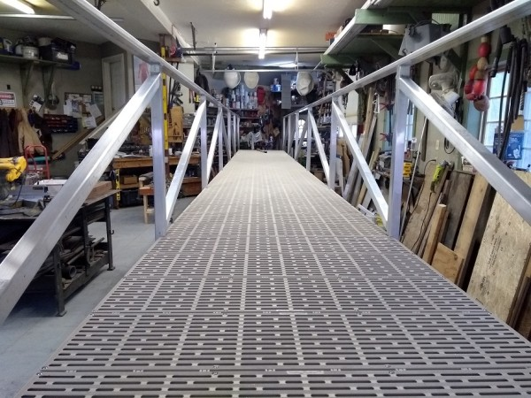 4 x 36 foot Aluminum gangway with ThruFlow decking