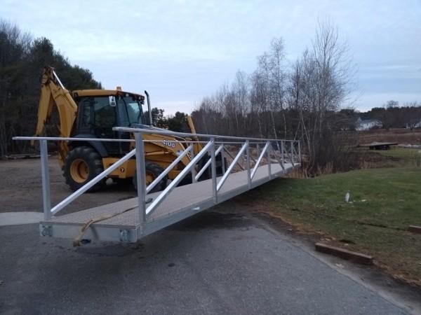 4 x 36 foot Aluminum gangway with ThruFlow decking